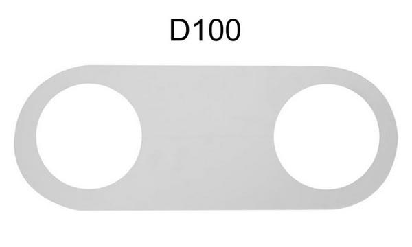 Обвод для трубы для ПВХ потолка, клеится к потолку на клей